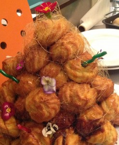Croquembouche wedding cake